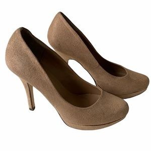 Call It Spring Faux Suede Heels